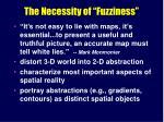 the necessity of fuzziness