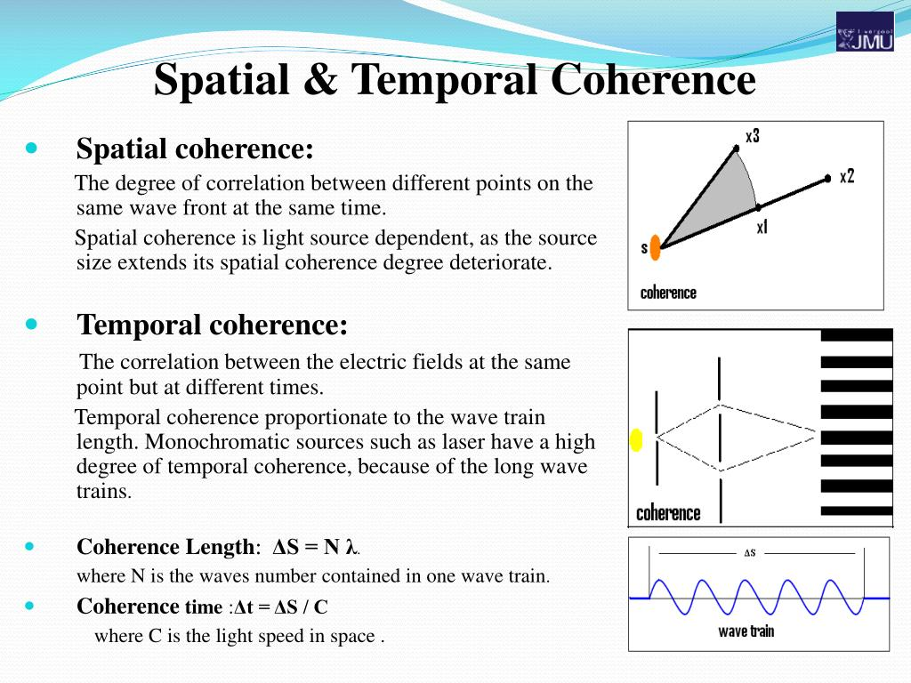 Spatial & Temporal Coherence