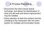 a process recording