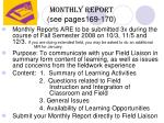 monthly report see pages169 170