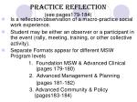 practice reflection see pages179 184