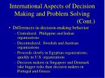international aspects of decision making and problem solving cont59