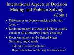 international aspects of decision making and problem solving cont60