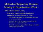 methods of improving decision making in organizations cont52