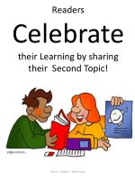 readers celebrate their learning by sharing their second topic