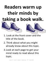 readers warm up their minds by taking a book walk