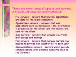 there are many types of specialized servers a typical lan may be constructed of