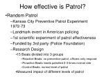 how effective is patrol14