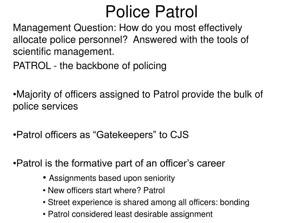 police patrol l.