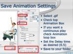 save animation settings