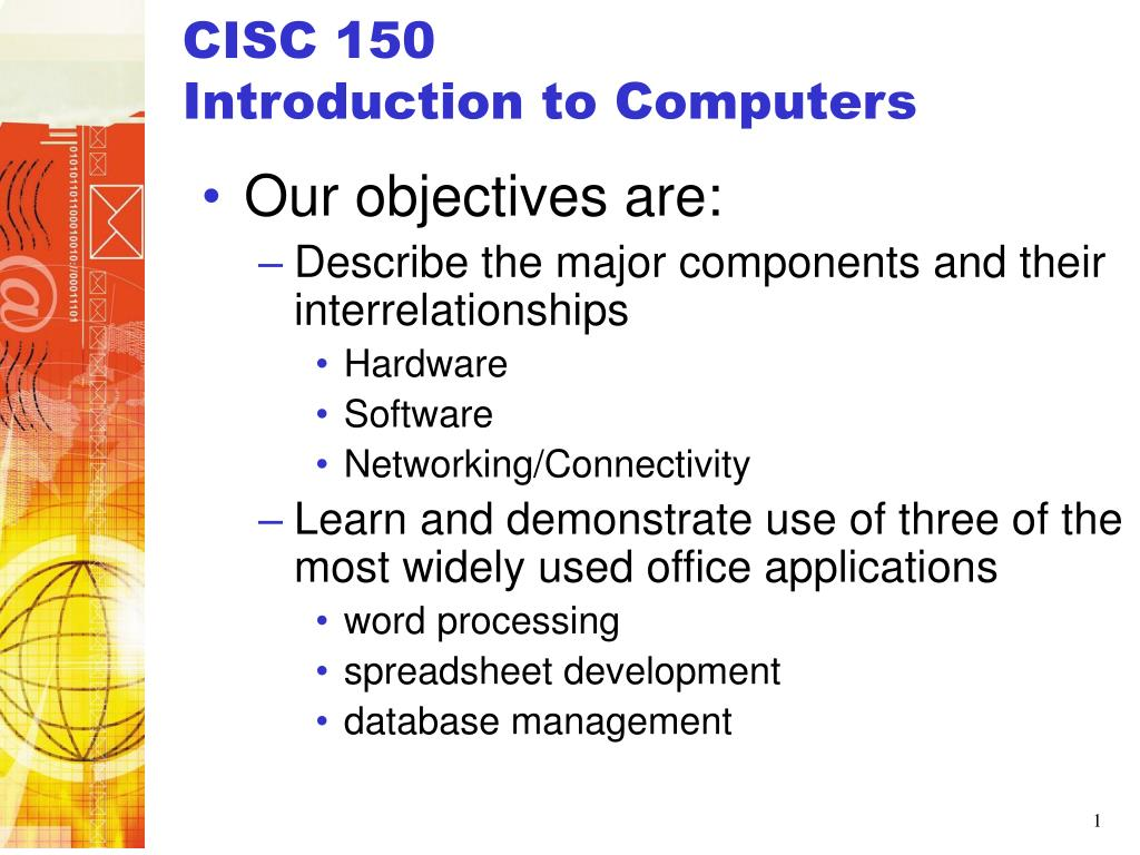 cisc 150 introduction to computers l.