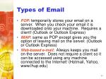 types of email