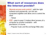 what sort of resources does the internet provide25