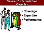 channel differentiation variables