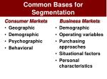 common bases for segmentation