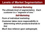 levels of market segmentation12
