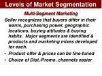 levels of market segmentation8
