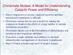 chorismate mutase a model for understanding catalytic power and efficiency