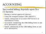 successful billing depends upon five 5 factors