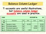 balance column ledger