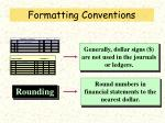formatting conventions