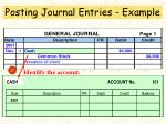 posting journal entries example