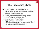 the processing cycle