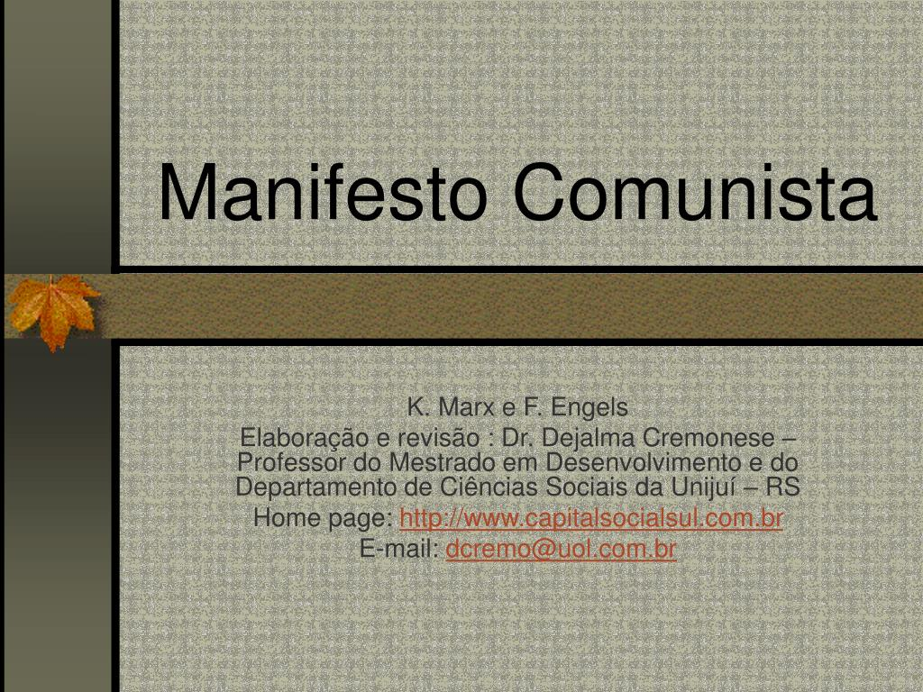 manifesto comunista l.