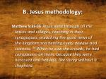b jesus methodology
