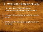 ii what is the kingdom of god