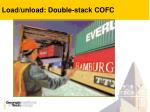 load unload double stack cofc