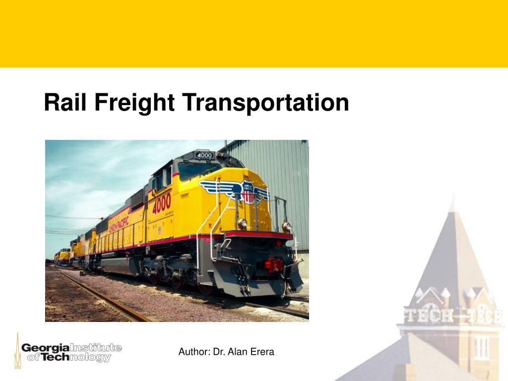 rail freight transportation l.