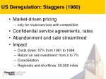 us deregulation staggers 1980