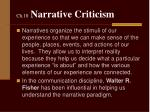ch 10 narrative criticism