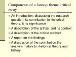 components of a fantasy theme critical essay