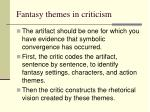 fantasy themes in criticism
