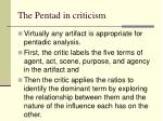 the pentad in criticism