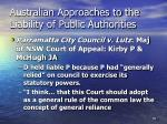 australian approaches to the liability of public authorities72