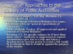 australian approaches to the liability of public authorities73