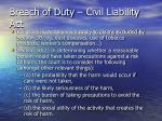 breach of duty civil liability act
