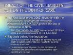 impact of the civil liability act on the duty of care