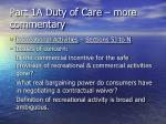 part 1a duty of care more commentary