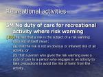 recreational activities18
