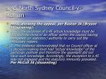 s 45 north sydney council v roman