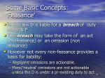 some basic concepts feasance