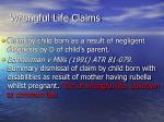 wrongful life claims