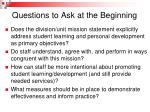questions to ask at the beginning