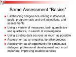some assessment basics