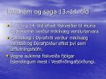 landn m og saga 13 14 ld