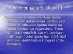 landn m og saga 9 10 ld 1